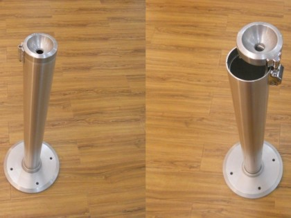 Circle Floor <p>Posacenere da pavimento in alluminio