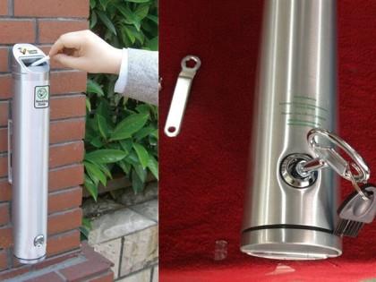 Circle Wall <p>Posacenere da muro/palo in alluminio